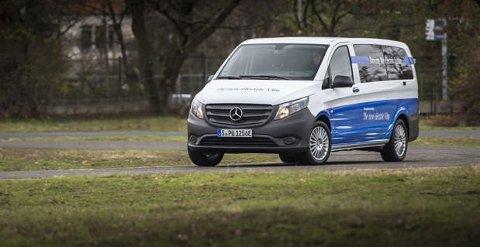 Mercedes eVito er en av flere større elektriske varebiler som kommer på markedet i år og neste år.