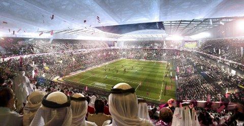 VM: Slik skal VM i Qatar se ut fra utsiden. Fra innsiden er det et helt annet syn.