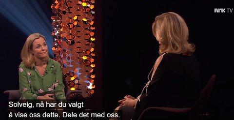 ÅPEN OM DØDEN: Solveig Kloppen beveget mange hos Lindmo fredag.