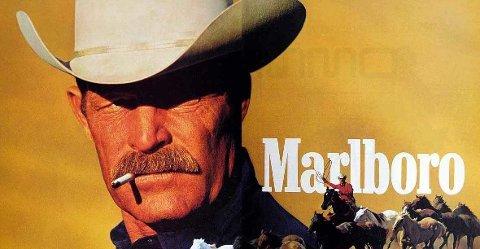 """SISTE TREKK: Flere av mennene som var """"Marlboro Man"""" døde av sigarettrelaterte sykdommer. Nå skal produsenten Philip Morris droppe sigarettene helt. FOTO: faksimile / Leo Burnett"""