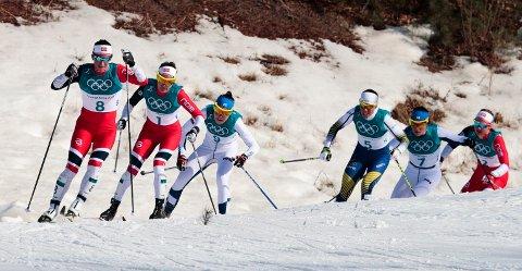 30 kilometer langrenn for kvinner under vinter-OL i Pyeongchang. Hvor mye kan du om sport? Foto: Lise Åserud / NTB scanpix