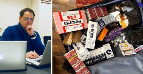 MENER HAN BLE LURT: Frilansjournalist Lasse Olsrud Evensen tror og frykter at noen forsøkte å sette ham fast ved å bytte hans egen koffert med en koffert full av dop.