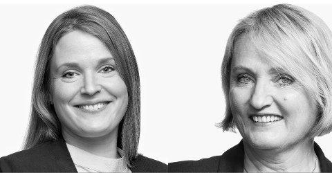 Advokat Sunniva Lillebø Wahl og Randi Birgitte Bull hos advokatfirmaet Bull & Co.
