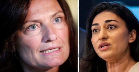 IMDI-direktør Libe Rieber-Mohn (tv) har hittil vært taus i saken om Født Fri og Shabana Rehman.