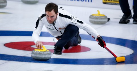 Norges curling skip Steffen Walstad. Foto: Jeff McIntosh/The Canadian Press via AP / NTB