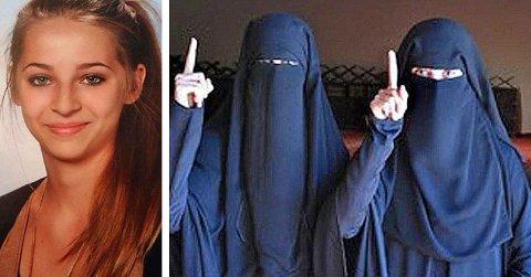 Venninnene Samra Kesinovic (t.v.) og Sabina Selimovic (sammen på bildet til høyre) reiste til Syria fra Østerrike for å slutte seg til IS. Kesinovic ble drept da hun forsøkte å rømme fra jihadistgruppen. Nå antyder nye opplysninger at hun ble holdt som sexslave.