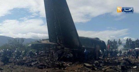 Et russiskprodusert transportfly av typen Iljusjin Il-76, styrtet like etter avgang fra militærflyplassen ved byen Boufarik i Algerie. Over 200 personer skal ha omkommet.