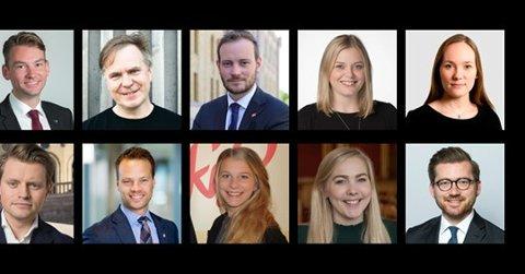 REDNINGEN: Henrik Asheim (H), Alfred Bjørlo (V), Peter Christian Frølich (H), Tina Bru (H), Jenny Clemet von Tetzchner (H), Sivert Bjørnstad (Frp), Jon Helgheim (Frp), Ida Lindtveit Røse (KrFU), Mari Holm Lønseth (H) og Sveinung Rotevatn (V)