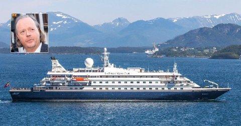 NOK EN BLEMME: For andre gang på tre måneder er det utbrudd på Atle brynestads cruiseskip SeaDream 1.