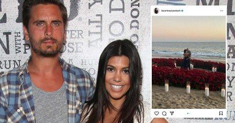 GÅR VIDERE: Kourtney Kardashian er ferdig med eksen Scott Disick for godt, og skal nå gifte seg med Travis Barker.