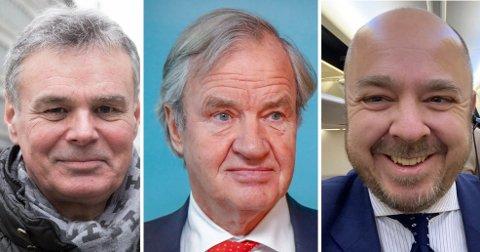 OVERRASKET: Både flyanalytiker Hans Jørgen Elnæs (til venstre) og Christian Kamhaug (til høyre) i Flypodden ble tatt på senga av nyheten om Bjørn Kjos' comeback i flybransjen mandag.