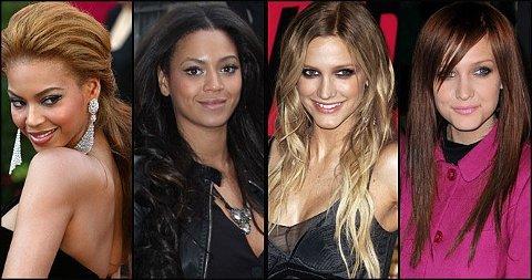 HVILKEN STIL KLER DE BEST? Beyonce har gått fra lyst til mørkt hår, Ashlee Simpson fra blond til rødbrunt. Men hvilken hårfarger kler de best? Gi ditt terningkast!