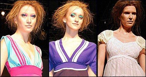 GJENBRUK: Gamle klær blir sydd om til design av Anne Brit Opdahl.