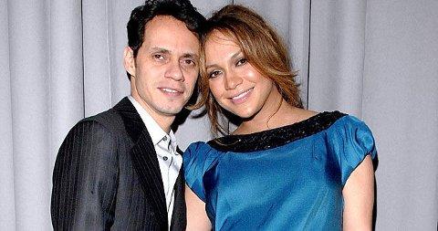 FIKK BARN: Jennifer Lopez og ektemannen Marc Anthony ble foreldre til tvillinger fredag.