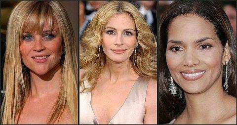 VINNERKJOLER: Reese Witherspoon, Julia Roberts og Halle Berry har alle hatt nydelige kjoler på Oscar-utdelingen. Se våre favoritter nederst.
