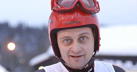 I BAKKEN: Thomas er klar for slalomduell.