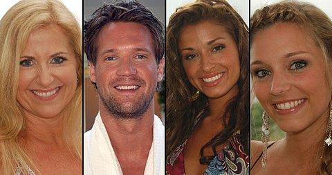 FORELSKET? Har Stig allerede forelsket seg? Vel disse tre kvinnene gjorde definitivt inntrykk på ham. F.v. Anita Flakk (43), Natalia Davadi (23) og Beate Tislavoll Haga (25).
