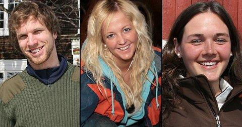 BØNDENE: Jan Røe, Silje Stensland og Ragnhild Strømmen Strand er tre av i alt åtte bønder som er klare for kjærligheten.