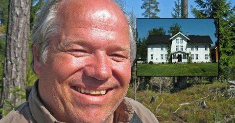 SELGER: Anders Berg selger gården han fant kjærligheten på. Pris? 35 millioner kroner.