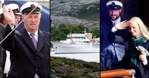 NYTER SKIPET: Den norske kongefamilien bruker kongeskipet sitt mye.