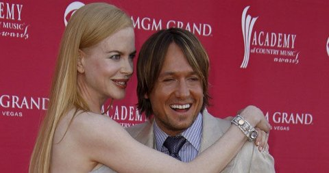 FORELDRE: Nicole og Keith ble foreldre til en liten jente mandag.