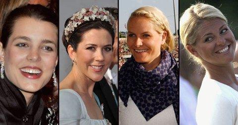 KORT? Her er Charlotte Casiraghi, kronprinessene Mary og Mette-Marit og Madeleine med håret oppsatt. Men hva kler de best? Se bildene under!