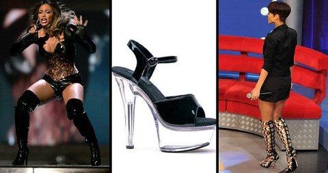 HØYE SKO: Beyoncé og Rihanna er blant stjernene som liker sine sko supersexy.