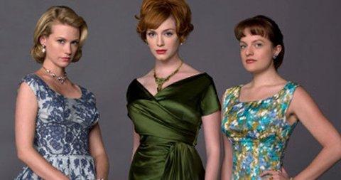 MAD MENS DAMER: January Jones, Christina Hendricks og Elisabeth Moss spiller de kvinnelige hovedrollene. La deg inspirere av deres vintagetrend.