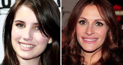 BREDT SMIL: Emma Roberts er ganske så lik sin tante Julia. Ikke den verste man kan ligne på det.