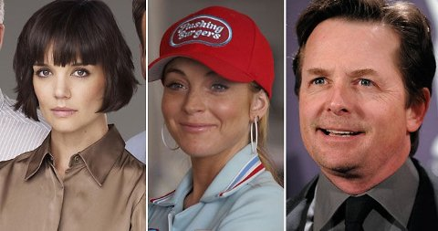 NYW ROLLER: Katie Holmes, Lindsay Lohan og Michael J. Fox er klare for roller i kjente serier.