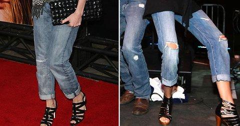 BAGGY OG OPPRULLET: Dette er det nyeste på jeansfronten. Sjekk ut bildeserien for å se hvem som setter trenden!