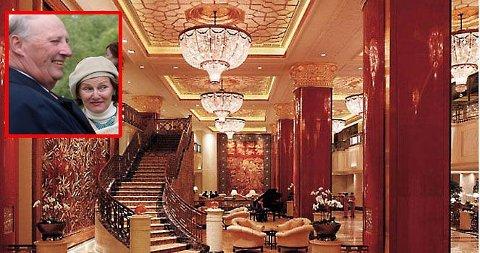 VAKKERT: Kongeparet skal nyte dagene på dette flotte hotellet i Beijing.