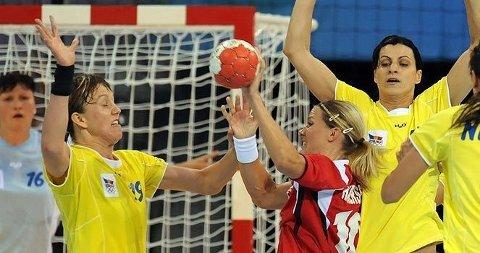 Gro Hammerseng mot Romania i gruppespillet i OL.
