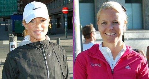 LØP SAMMEN: Lene Alexandra og Mette-Marit løp 10 kilometer under Oslo Maraton. En av dem var klart raskest...