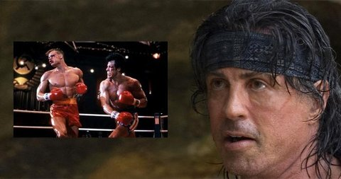 I RINGEN: Sylvester Stallone møtte Dolph Lundgren i Rocky-ringen. Nå møtes de igjen.
