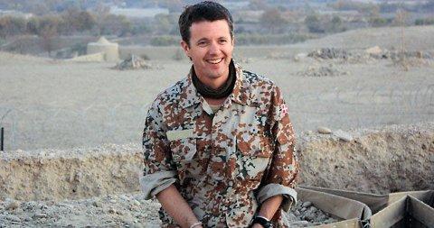 I AFGHANISTAN: Kronprins Frederik besøkte de danske soldatene denne uken.