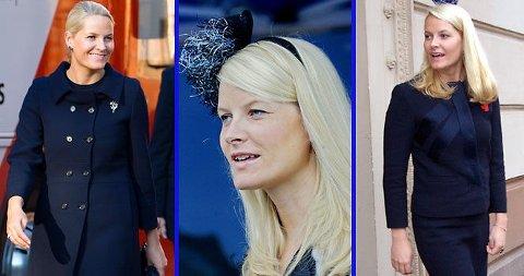 MARINE-METTE: Kronprinsessen har en klar favorittfarge som hun har brukt til stadighet i årenes løp.