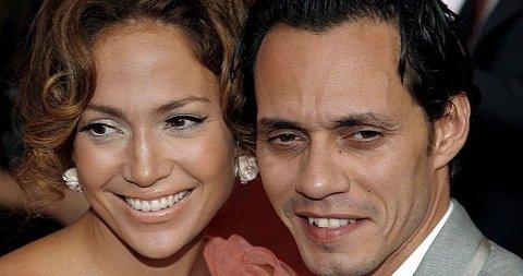 LYKKEN BRISTER: Det går mot brudd for stjerneparet Jennifer Lopez og Marc Anthony.