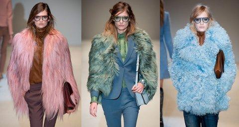 Det var skitne pasteller, pels og et gjennomgående 70-talls tema da Gucci viste sin høst/vinter 2014 kolleksjon på moteuken i Milano på onsdag.