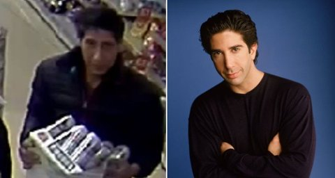 LIGNER: Mannen som etterlyses i Blackpool ligner veldig på David Schwimmer, som spilte Ross i Friends.