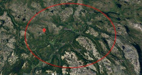 Kvinnen er savnet i Svartåsfjellet nordvest for Tolga.