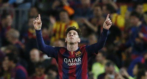 MATCHVINNER: Lionel Messi viste fram sine magiske kvaliteter.