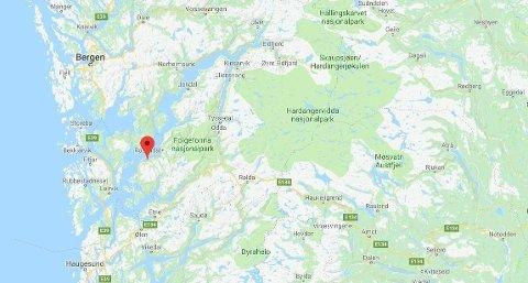 EKSPLOSJON: En person er skadd i en eksplosjon i Kvinnherad.