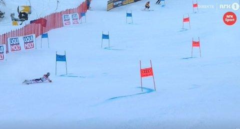 DRAMA: Alexis Pinturault ledet med 0.40 sekunder før finaleomgangen. Den endte slik.