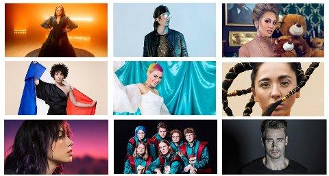 Det er mange deltagere som er blant favorittene til årets Eurovision. Her har vi samlet et knippe av dem.