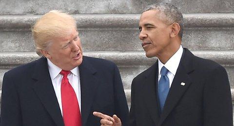 AVLYTTET: President Donald Trump hevder at han ble avlyttet av sin forgjenger, Barack Obama, før seieren i presidentvalget i november.
