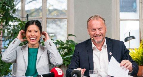 Oslo-toppene Lan Marie Berg (MDG) og Raymond Johansen (Ap) lar seg ikke styre av Rødts lønns-filosofi.