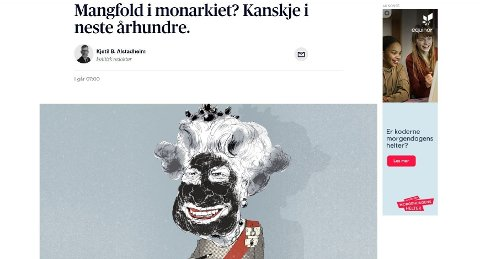 PROVOSERER: Det er denne karikaturen som har skapt debatt i sosiale medier. Aftenposten