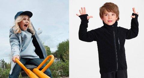 Skalltøy og vindfleece er blant favorittene vi velger til barna i høstsesongen.