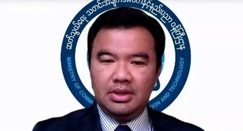 EKSIL: Htin Linn Aung var kommunikasjons-, informasjons- og teknologiminister for det folkevalgte enhetsregjeringen i Myanmar rett før militærkuppet 1. februar tidligere i år. Nå sitter han i ufrivillig eksil i USA.